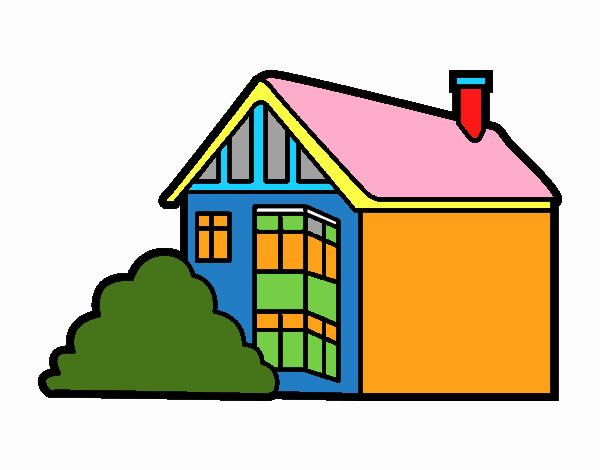 Dibujo De Casa Moderna Pintado Por En Dibujosnet El Día 26 06 18 A