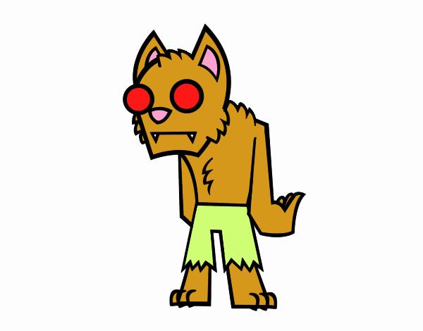 Dibujo De Hombre Lobo Para Colorear: Zombie Pintado Por En Dibujos.net