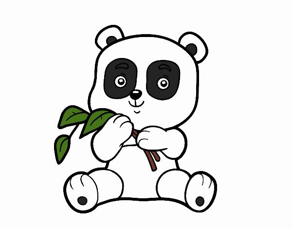 Dibujo de Un oso panda pintado por en Dibujos.net el día 28-06-18 a ...