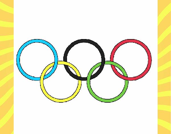 Dibujo de Anillas de los juegos olimpícos pintado por en Dibujos.net ...