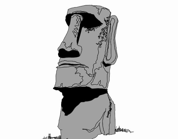 moai dibujo