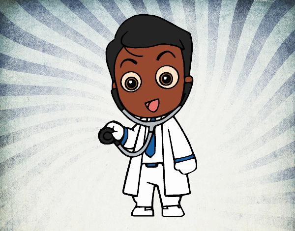 Dibujos De Medicos Para Colorear E Imprimir: Dibujo De Médico Auscultando Pintado Por En Dibujos.net El