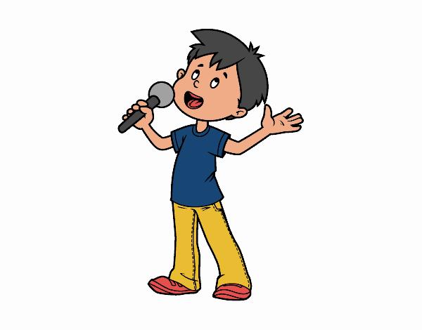 Dibujo De Niño Cantando Pintado Por En Dibujos.net El