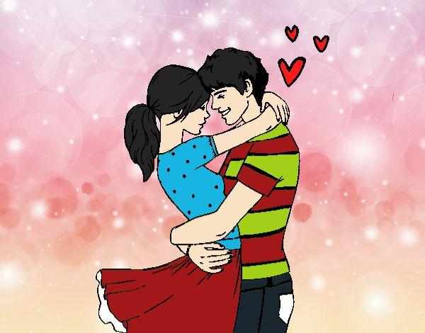 Dibujo De Pareja Enamorada Pintado Por En Dibujosnet El Día 14 07