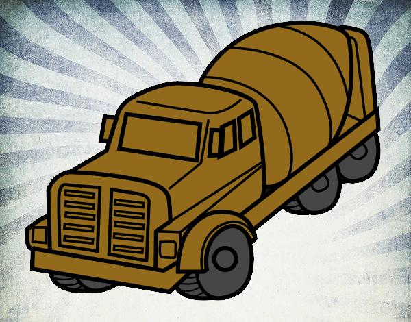 Dibujo De Camión Hormigonera Pintado Por En Dibujosnet El Día 16 07