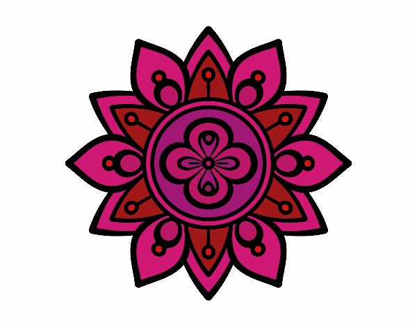 Dibujo De Mandala Flor De Loto Pintado Por En Dibujosnet El Día 21