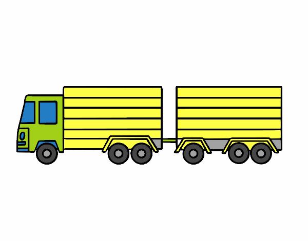 Dibujo de Camión con remolque pintado por en Dibujos.net el día 24 ...