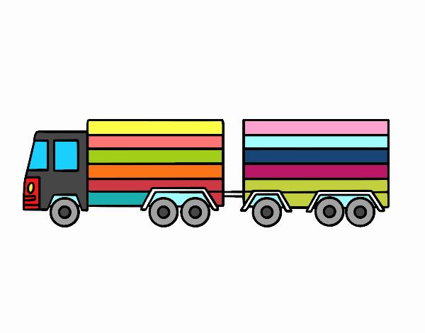 Dibujo de Camión con remolque pintado por en Dibujos.net el día 25 ...