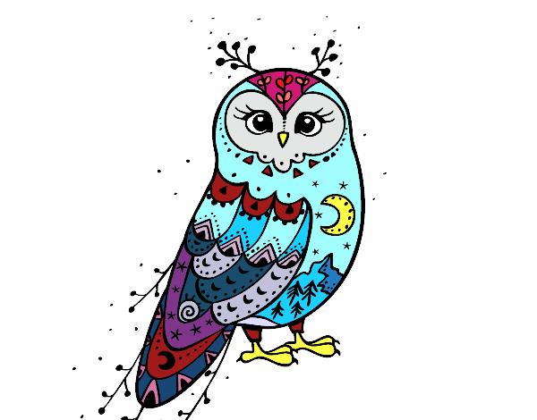 Dibujo de Lechuza de invierno pintado por en Dibujos.net el día 24 ...