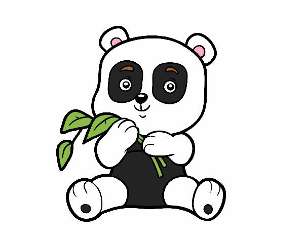 Dibujo De Un Oso Panda Pintado Por En Dibujosnet El Día 24