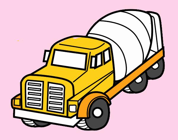 Dibujo De Camión Hormigonera Pintado Por En Dibujosnet El Día 12 08