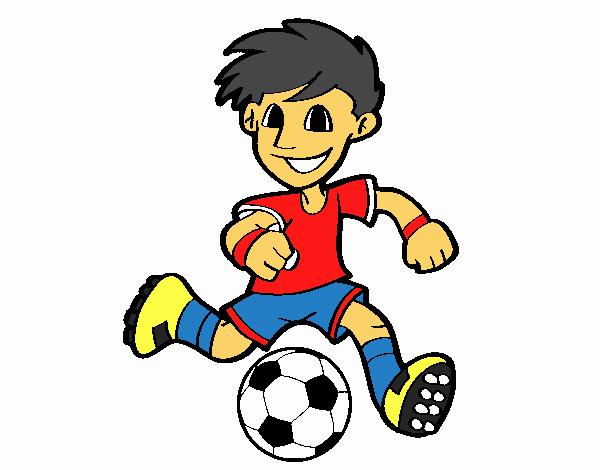 Dibujo De Jugador De Fútbol Con Balón Pintado Por Guguimdq: Dibujo De Jugador De Fútbol Con Balón Pintado Por En