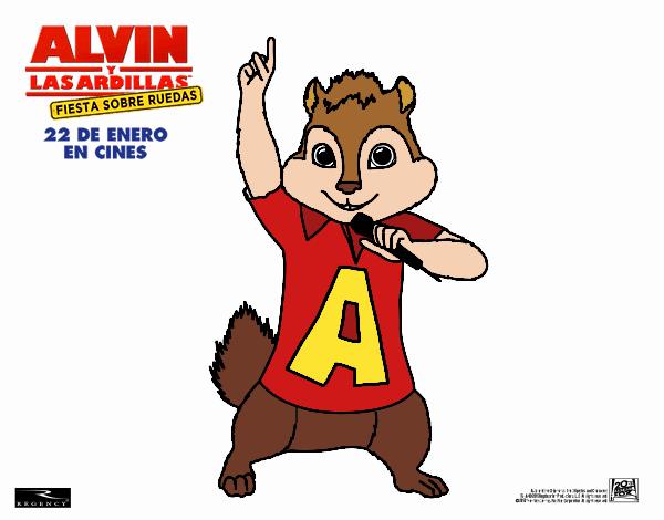 Dibujo de Alvin la Ardilla pintado por en Dibujos.net el día 17-08 ...
