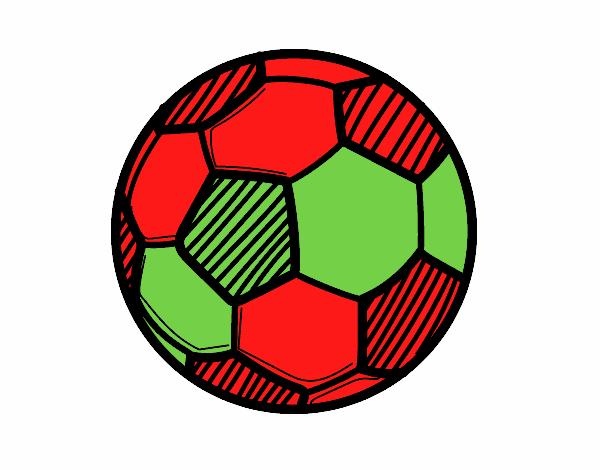 Dibujo De Jugador De Fútbol Con Balón Pintado Por En: Dibujo De Balón De Fútbol Pintado Por En Dibujos.net El