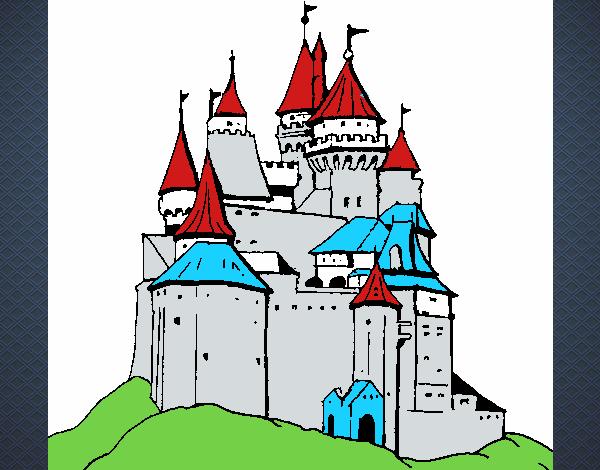 Dibujo de Castillo medieval pintado por en Dibujos.net el día 23-08 ...