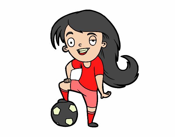 Dibujo De Fútbol Femenino Pintado Por En Dibujosnet El Día 20 08 18