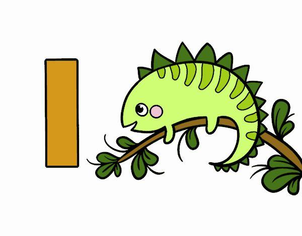 Dibujo De I De Iguana Pintado Por En Dibujosnet El Día 26 08 18 A