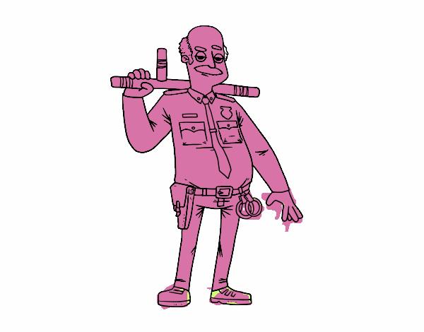 Dibujo de Policía veterano pintado por en Dibujos.net el día 30-08 ...