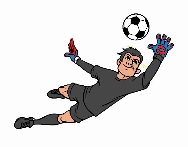 Dibujo De Fútbol Pintado Por Fustapa13 En Dibujos Net El: Dibujo De Un Portero De Fútbol Pintado Por En Dibujos.net