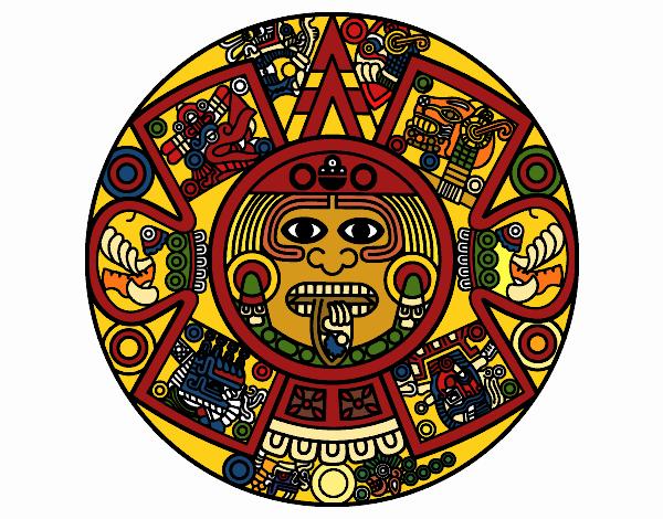 Calendario Azteca.Dibujo De Calendario Azteca Pintado Por En Dibujos Net El