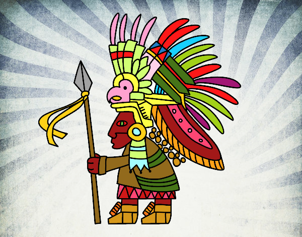 Dibujo De Guerrero Azteca Pintado Por En Dibujosnet El Día 11 09 18