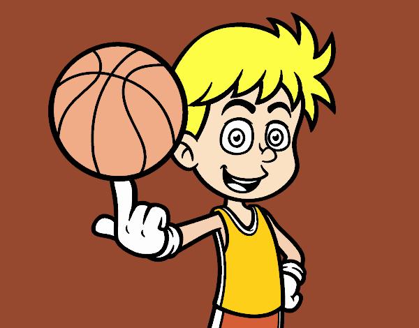 Dibujos Para Colorear Jugador De Hockey: Dibujo De Jugador De Baloncesto Junior Pintado Por En