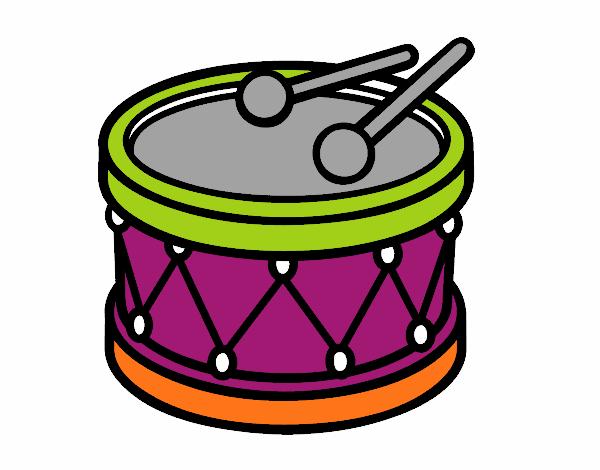 Dibujos De Una Tambora Y Guira: Dibujo De Tambor De Juguete Pintado Por En Dibujos.net El