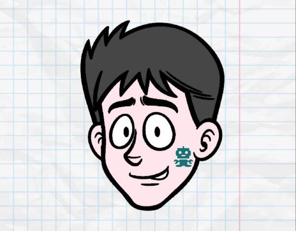 Dibujo de Cara de chico joven pintado por en Dibujos.net el día 20 ...