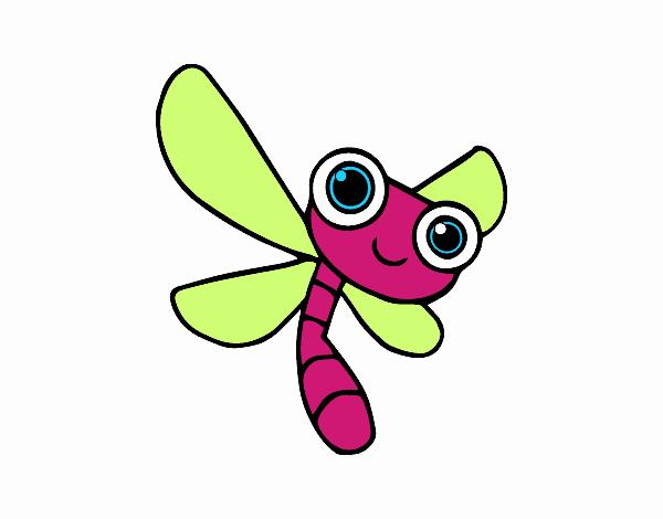 Dibujo de Una libélula pintado por en Dibujos.net el día 20-09-18 a ...