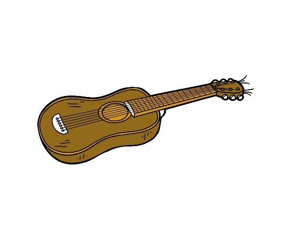 Dibujo de Una guitarra acústica pintado por en Dibujos.net el día 29 ...