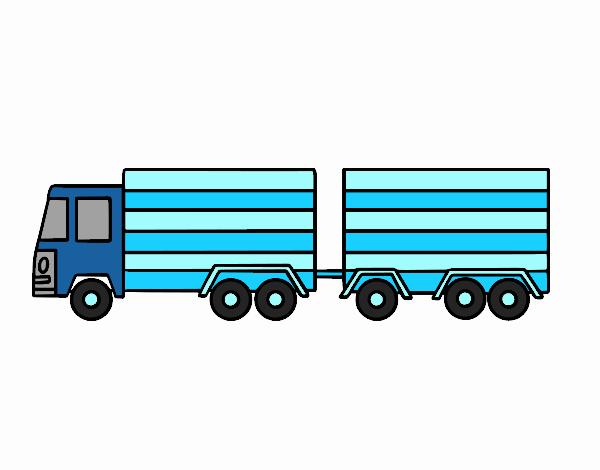Dibujo de Camión con remolque pintado por en Dibujos.net el día 02 ...