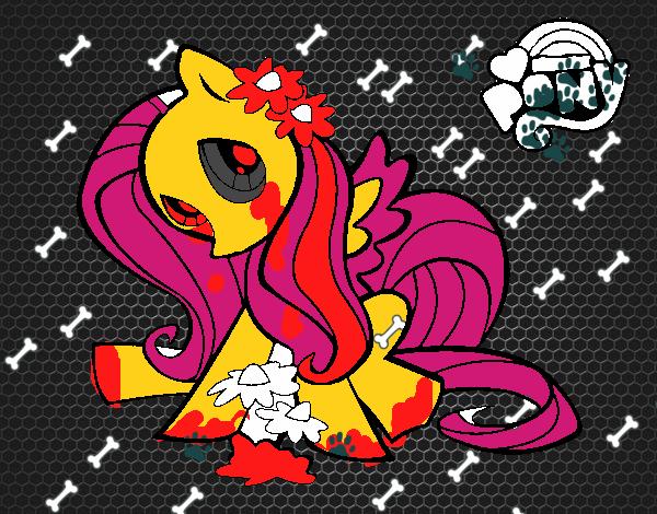Dibujo De Fluttershy Para Colorear: Dibujo De Fluttershy Pintado Por En Dibujos.net El Día 07