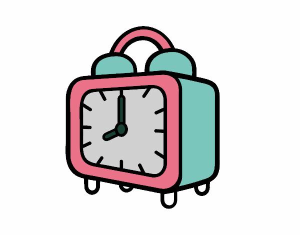 Dibujo de Un reloj despertador pintado por en Dibujos.net el día 07 ...