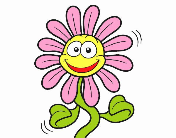 Dibujo De Flor Animada Pintado Por En Dibujos Net El Dia 14 10 18 A