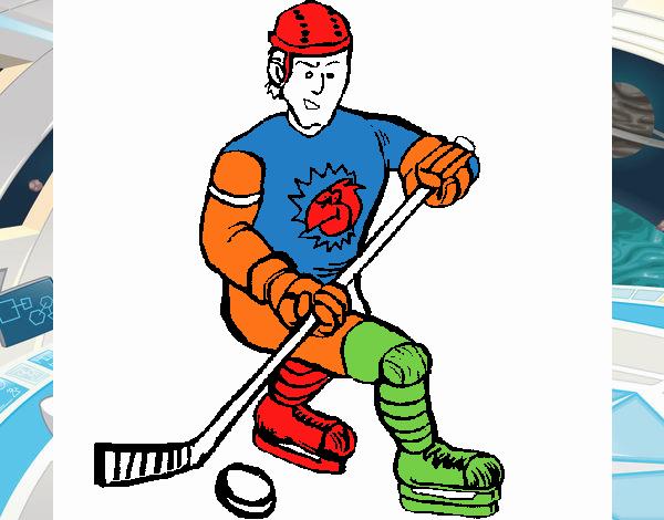 Dibujo de Jugador de hockey sobre hielo pintado por en Dibujos.net ...