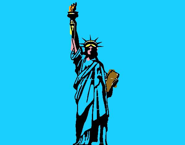 Dibujo de La Estatua de la Libertad pintado por en Dibujos