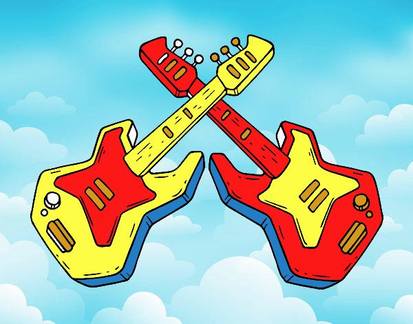 Dibujo De Guitarras Eléctricas Pintado Por En Dibujosnet El Día 28