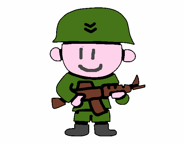 Dibujo De Soldado Pintado Por En Dibujosnet El Día 28 10 18