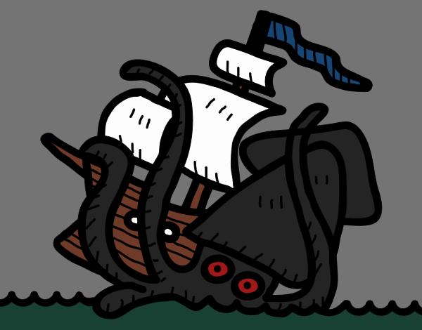 Dibujo De Kraken Pintado Por En Dibujosnet El Día 29 10 18 A Las 23