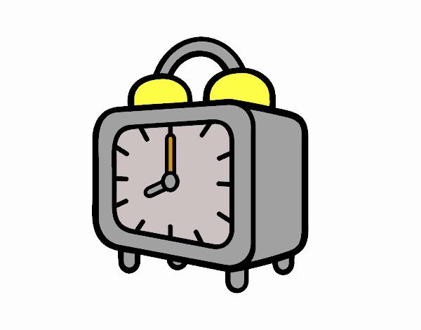 Dibujo de Un reloj despertador pintado por en Dibujos.net el día 13 ...