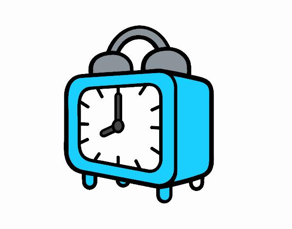 Dibujo de Un reloj despertador pintado por en Dibujos.net el día 08 ...