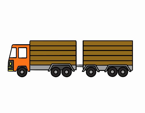 Dibujo de Camión con remolque pintado por en Dibujos.net el día 13 ...