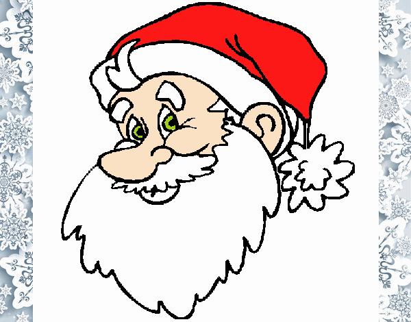Dibujo de Cara Papa Noel pintado por en Dibujos.net el día 14-12-18 ...
