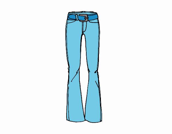 Dibujo de Pantalones acampanados pintado por en Dibujos.net el día ...
