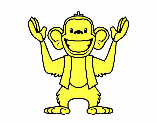 Dibujo de Mono Abu pintado por en Dibujos net el día 04-09