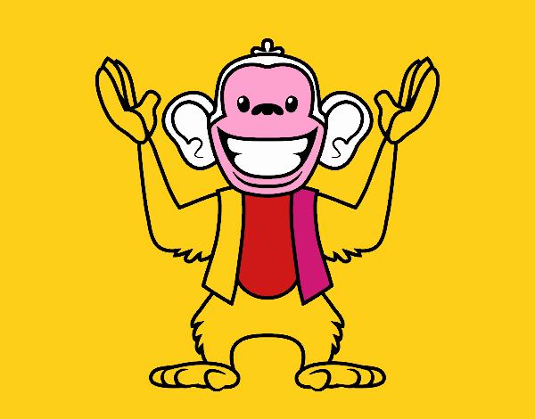 Dibujo de Mono Abu pintado por en Dibujos net el día 05-09