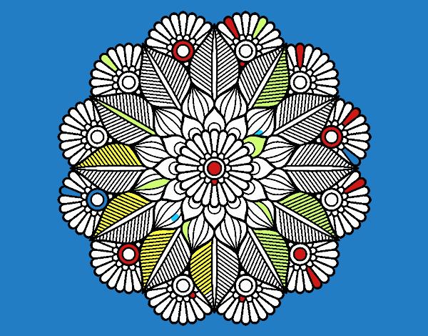 Dibujo De Mandala Convivencia Escolar Pintado Por En Dibujos