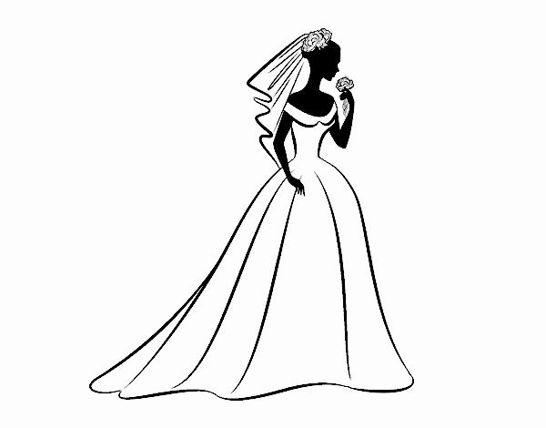 Dibujo De Vestido De Boda Y Velo Pintado Por En Dibujosnet