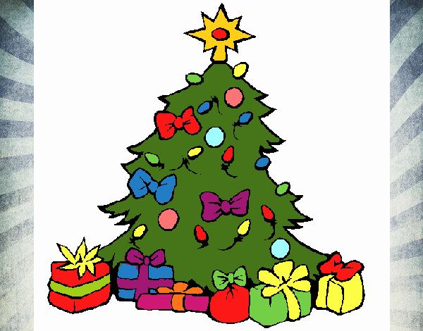 Dibujo de Árbol de navidad pintado por en Dibujos.net el día 14-12-19 a las 17:52:59. Imprime, pinta o colorea tus propios dibujos!