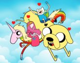 Finn y Jake con la Princesa Chicle